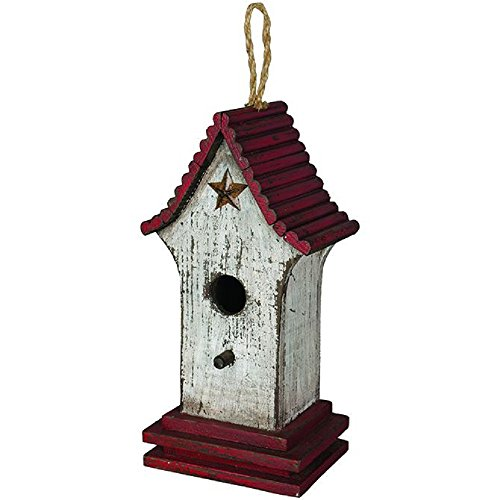 Carson Distressed Star Birdhouse Home Decor (Distressed Birdhouse)