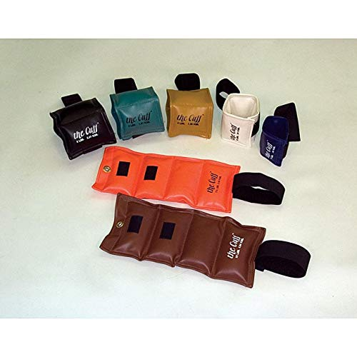 the Cuff 10-0303 Pouch Variable Wrist and Ankle Weight, 15 lb, 5 x 3 lb Inserts, Tan
