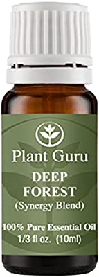 Deep Forest Synergy Essential Oil Blend 10 ml. 100% Pure, Undiluted, Therapeutic Grade. (Blend Of: Siberian Fir Needle, Silver Fir Needle, Pine Needle, Cypress, Cedarwood.