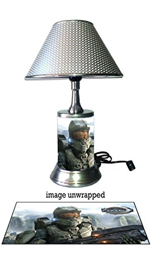 Master Chief Lamp with chrome shade, Halo (Halo Lamp)