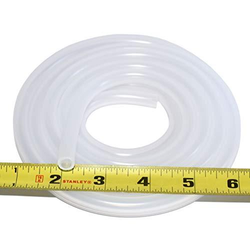 "Pure Silicone Tubing - 1/4"" ID x 3/8"" OD - High Temp Kink-Free Hose Tube 500F (10 Feet)"