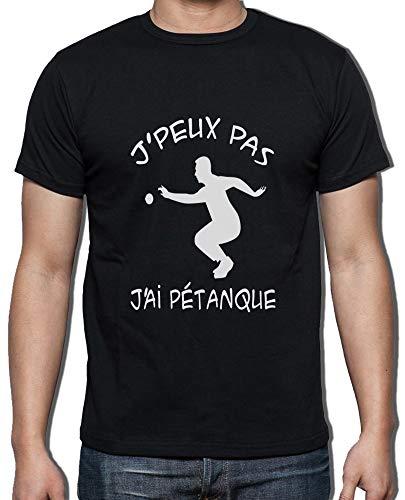 Homme J'ai Pétanque Bouliste Gazol Noir Col J'peux Coton Pur T Rond shirt Pas Humour qwY8wfp