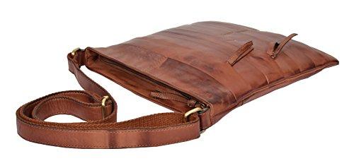 Bag Travel Sling Vintage Leather Tan Soft Shoulder HLG761 Organiser Ladies Body Cross zvI1q8Ux