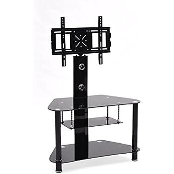 hodedah 35 wide tv stand with swiveling mount kitchen dining. Black Bedroom Furniture Sets. Home Design Ideas