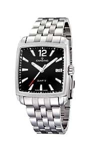 Candino C4372/B - Reloj analógico de cuarzo para hombre, correa de acero inoxidable color plateado (agujas luminiscentes)