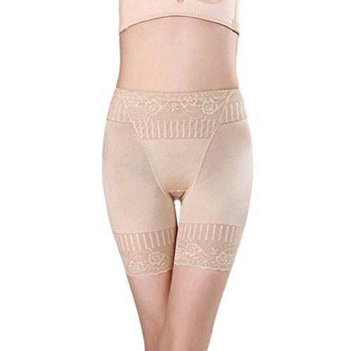Zarbrina Women's Hi-Waist Body Shaper Butt Lifter Shapewear Trainer Tummy Control Panties Seamless Thigh (Shiny Thigh Slimmer)