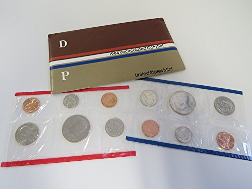 1984 P&D U.S. Mint 10-Coin Uncirculated Set with Original Government Packaging Uncirculated ()
