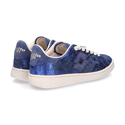 Donna Pelle Blu Lotto T868BLUE Sneakers 5axqqzwO