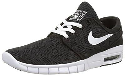 Nike Men's Stefan Janoski Max Black/White/Light BrownSneakers - 7 D(M) US
