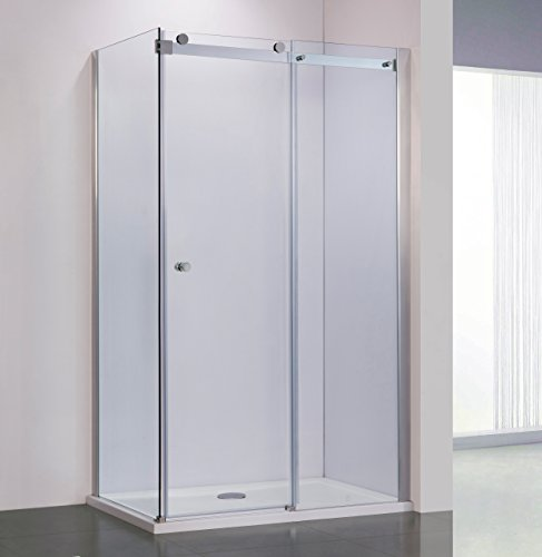 Side Panel Shower Enclosure - BAI 0925 Frameless Sliding Glass Shower Enclosure With Side Panel / Corner / 72