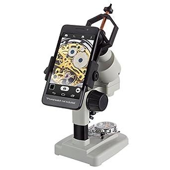 amscope-kids 20 x 40 x microscopio LED portátil estéreo inalámbrico con soporte para smartphone: Amazon.es: Amazon.es