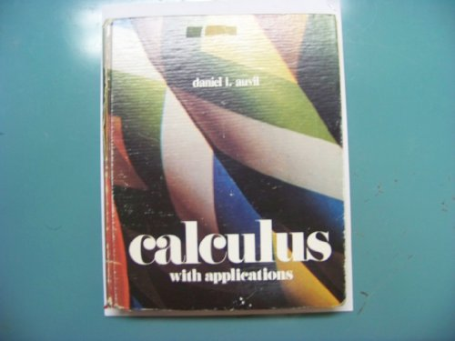Calculus: With Applications