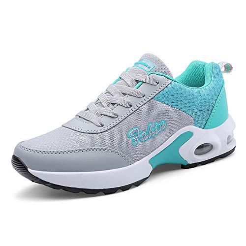 Deportivos Nuevo de Casuales Zapatos Air Mujer Cushion Moda Verano Mesh de Zapatos Zapatos Hasag SwqfPx1P