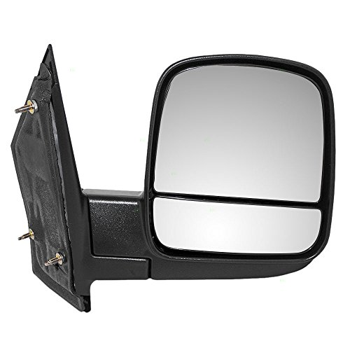 Passengers Manual Side View Mirror w/ Dual Glass Replacement for Chevrolet Express GMC Savana Van 20838066 (Van Chevrolet Passenger)