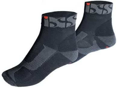 IXS-Socks SPORTS Short Black-Grey-Red