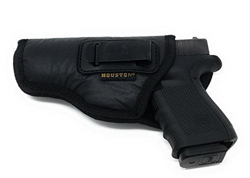 Hi Point Firearms (ECO LEATHER Concealment Holster Inside The Waist With Metal Clip FITS GLOCK 17/21, H &K ,BERETTA 92 FS,XDM,RUGER 45 BERSA PRO,PX4,FNX 45,FNH 45,HI POINT 9/40/45 MM (left) (CHP-57B-LH))