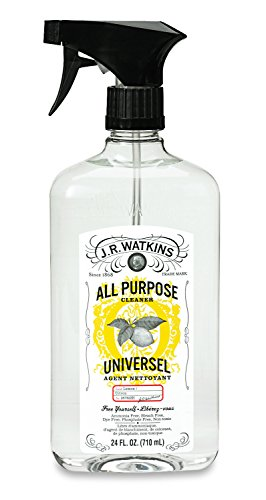 J.R. Watkins Natural All Purpose Cleaner, Lemon, 24 oz, Pack of 6