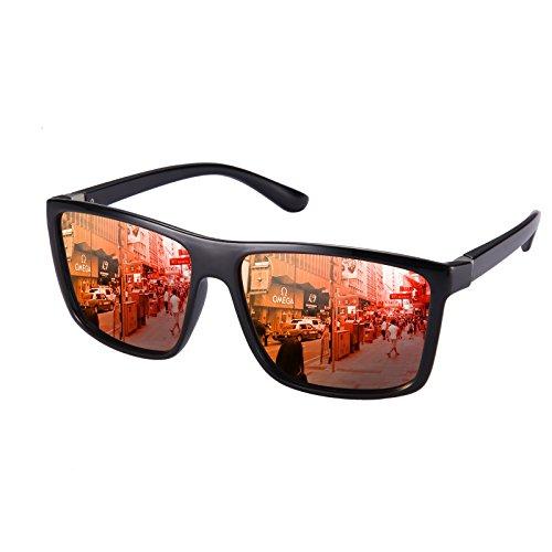Polarized Sunglasses for Men Driving, Unisex Sun Glasses Square Vintage 100% UV Protection Glasses for Men/Women - Best For Hiking Sunglasses