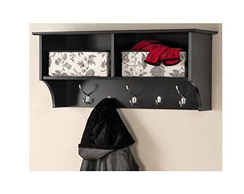 Prepac Hanging Entryway Shelf, 36 inches, Black
