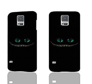 Wonderland smiling teeth cheshire cat glowing eyes 3D Rough Case Skin, fashion design image custom , durable hard 3D case cover for Samsung Galaxy S5 i9600 Regular, Case New Design By Codystore wangjiang maoyi