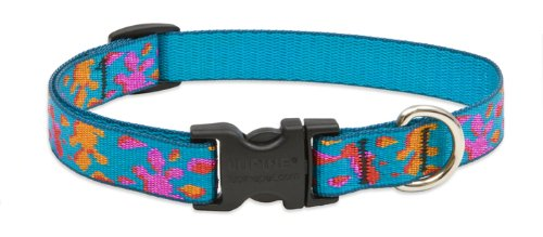 "LupinePet Originals 3/4"" Wet Paint 9-14"" Adjustable Collar for Small Dogs"