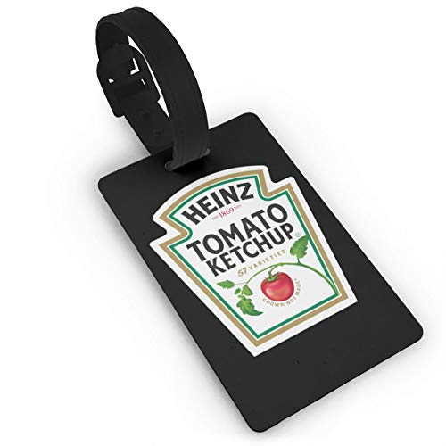 Luggage Tags Heinz Tomato Ketchup Name ID Labels For Travel Suitcase Baggage Bag