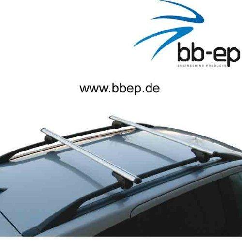 Dachreling f/ür U-B/ügel Montage oder T-Nut Montage mit 14 mm Breite BB-EP-Menabo Einfacher Aluminium Dachtr/äger 90302412 f/ür Volkswagen Caddy Maxi Life mit normaler hochstehender