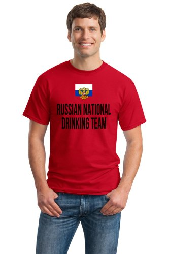 RUSSIAN NATIONAL DRINKING TEAM Unisex T-shirt / Funny Russia Beer Tee