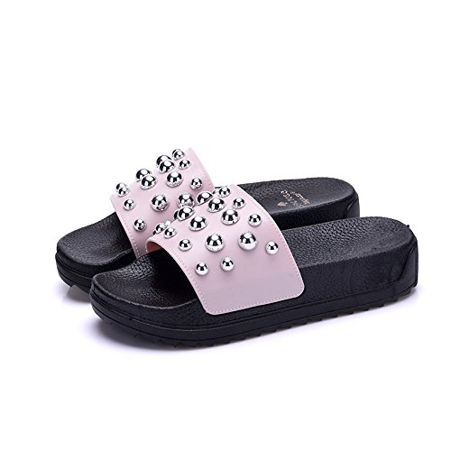 estate elegante da spesso alto a Fankou rosa femmina terra piscina domestico a 39 vasca estate nbsp;Cool antiscivolo bagno tacco pantofole bagno wXFtxEA