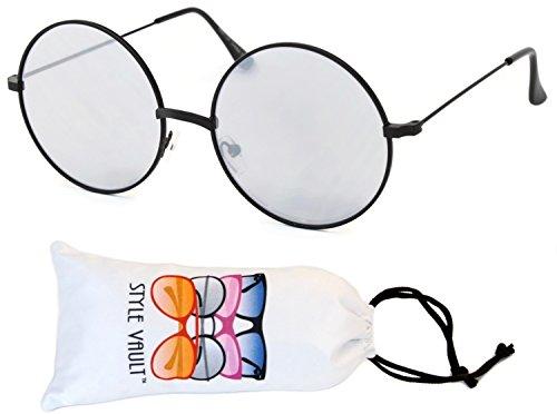 V166 Style Vault Metal Round Sunglasses Large Lens