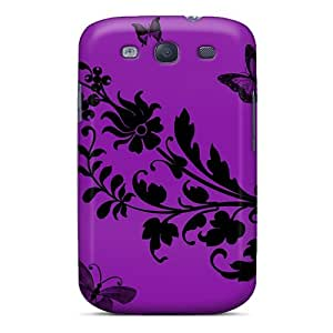 Tough Galaxy XlM5404ajTF Case Cover/ Case For Galaxy S3(butterfly Floral Abstract #2)
