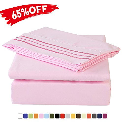 Merous 3 Piece Bed Sheet Set with Deep Pocket - Hypoallergen