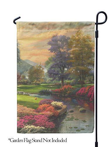 Flagology.com, Thomas Kinkade, Living Waters I - Garden Flag - 12.5