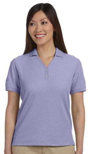 Devon & Jones Ladies' Pima Pique Short-Sleeve Polo Sport Shirt D100W purple XXX-Large - Ladies Pima Pique Sport Shirt