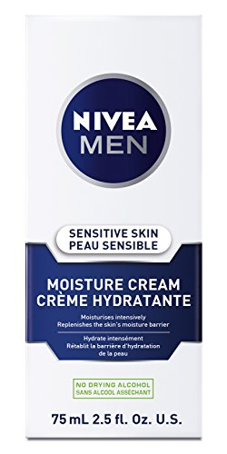 Nivea for Men Sensitive, Extra Soothing Lotion for Sensitive Skin, SPF 4, 2.5-Ounce Tubes (Pack of 4)