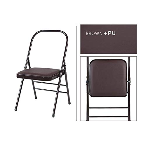 Mingming Folding Chair,Chairs Folding Yoga Backless Standard Prop Practice Asana Activity Padded Foldable,Brown