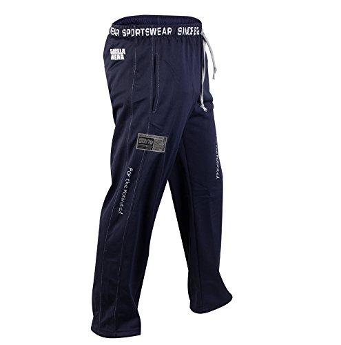 Gorilla Wear Logo Meshpants Blue blau - Bodybuilding und Fitness Hose für  Herren ...
