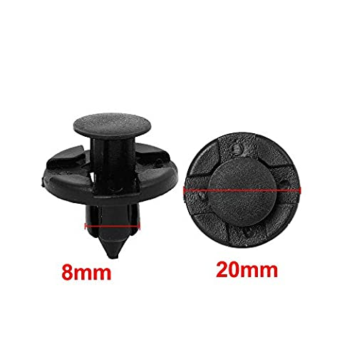 Nissan Bumper Clips or Universal Fender Push Type Retainers Clips (Hole Size 8mm, Head Diameter (Honda 350 Rancher Front Bumper)