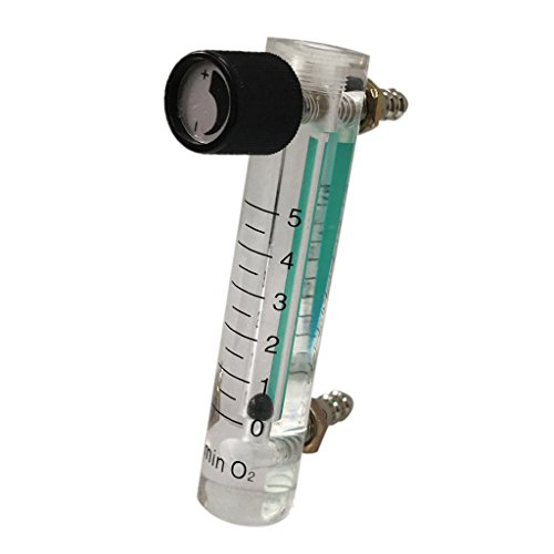 Fenteer Adjustable Flow Meter 1-15LPM Gas Flowmeter for Oxygen Air Gas Conectrator - Multi, 0-5L by Fenteer