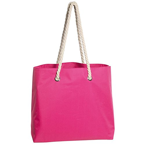 Borsa da spiaggia rosa con cordoncino manico 45x 18x 35cm