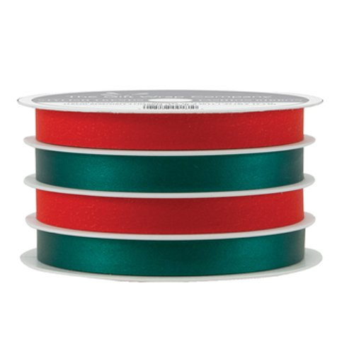 The Gift Wrap Company 4-Channel Classic Reversible Curling Ribbon, Red/Green