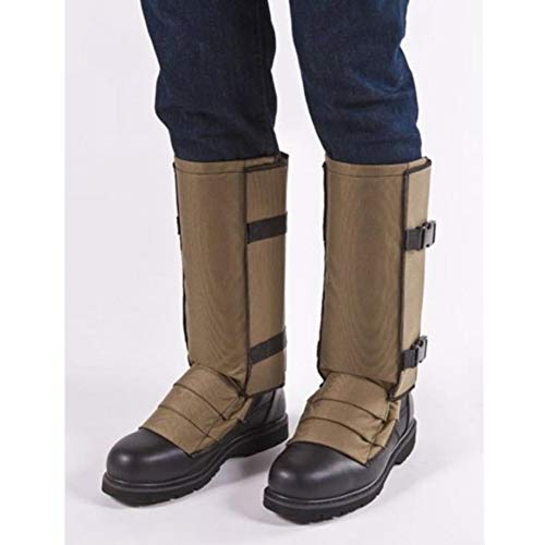 (Crackshot Men's Snake Bite Proof Guardz Gaiters, Khaki Tan, Large)