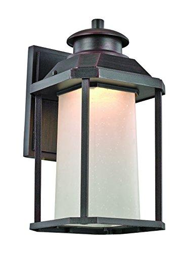Trans Globe Lighting LED-40931 RT Southfield Outdoor Rust Mission/Craftsman Wall Lantern, 13.5