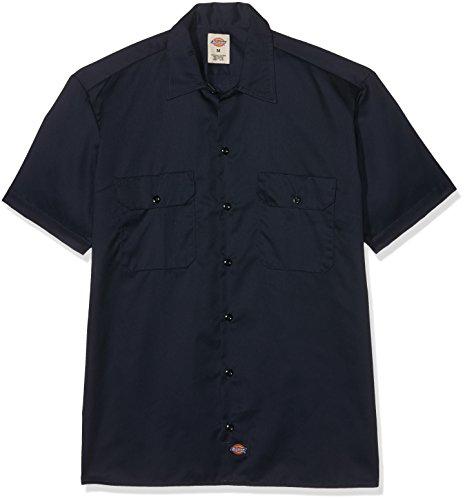 Dickies Short Sleeve Work Shirt, Dark Navy, 2X- ()