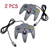 Two Game Controllers System for Nintendo 64 N64 - Gray