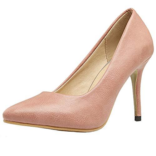Scarpe Aicciaizzi Alto Punta Moda Rosa Partito Pompe Donna Tacco wpgSRq