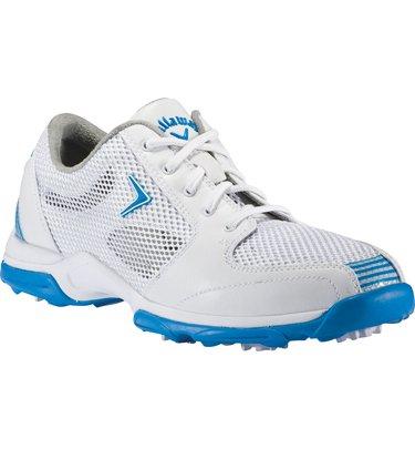 2013 Callaway Ladies Solaire Golf Shoes White-Blue 8 Medium