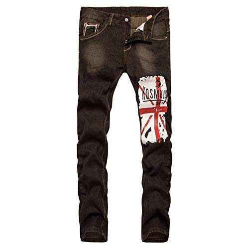 Jeggings Denim Jeans Slim Stretch Pantaloni In Braun Fit Moto Uomo Da Abbigliamento Vintage fq1xpB