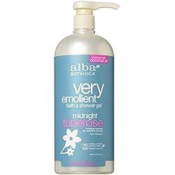 Alba Botanica Very Emollient Midnight Tuberose Bath & Shower Gel 32 Oz.