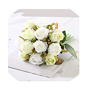 WodCht Beautiful Wedding Bouquet Roses Artificial Bridal Bouquets Bridesmaids Flowers Mariage Wedding Bouquet 91